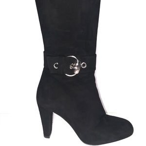 Gucci knee-high black suede boots 6 1/2 37C 6.5